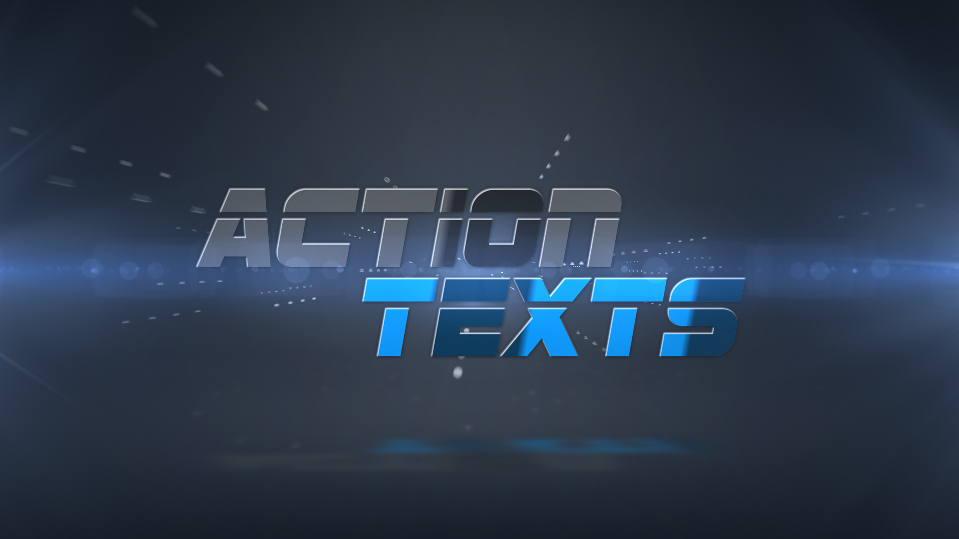 Action texts for Apple motion templates