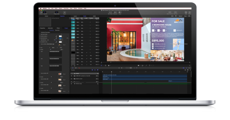 Video tutorials for apple motion 5 and final cut pro x for Apple motion templates