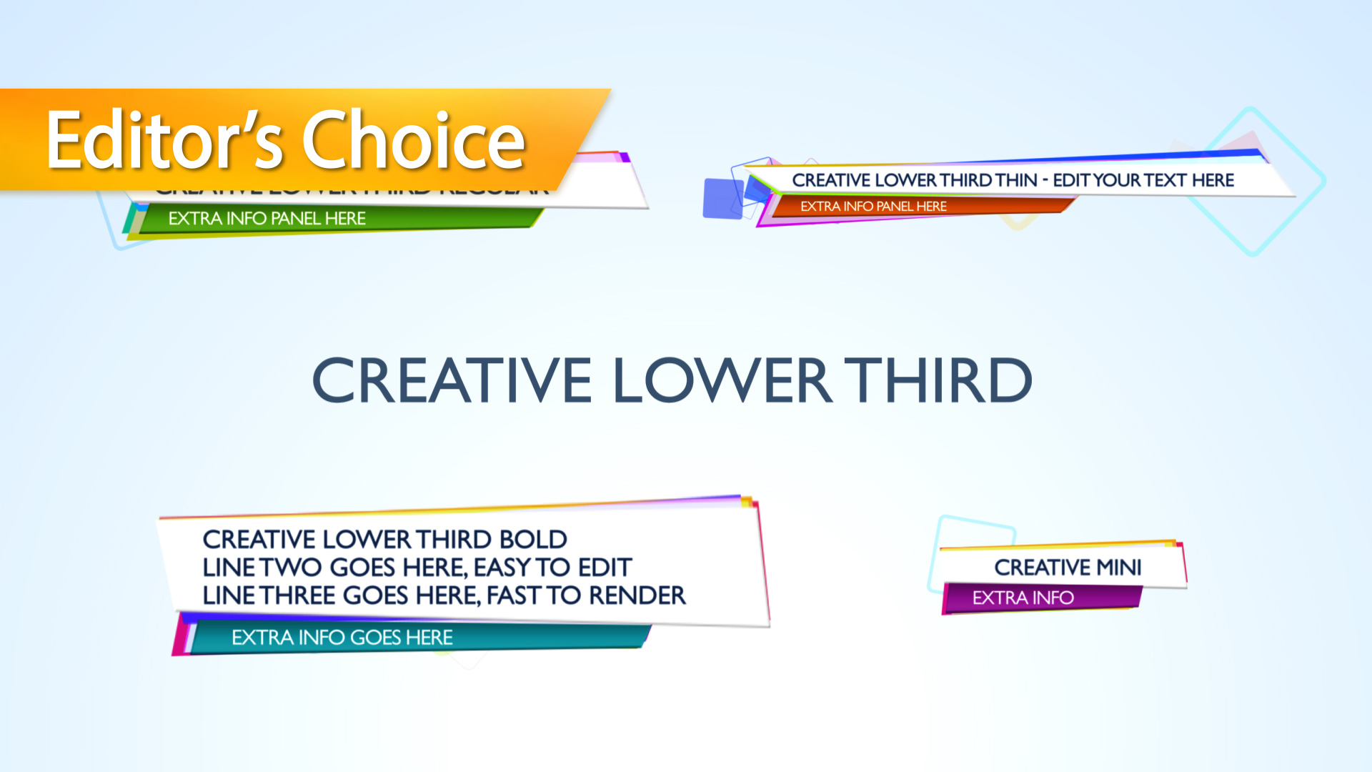 Creative lower third apple motion 5 template for Final cut pro lower thirds templates