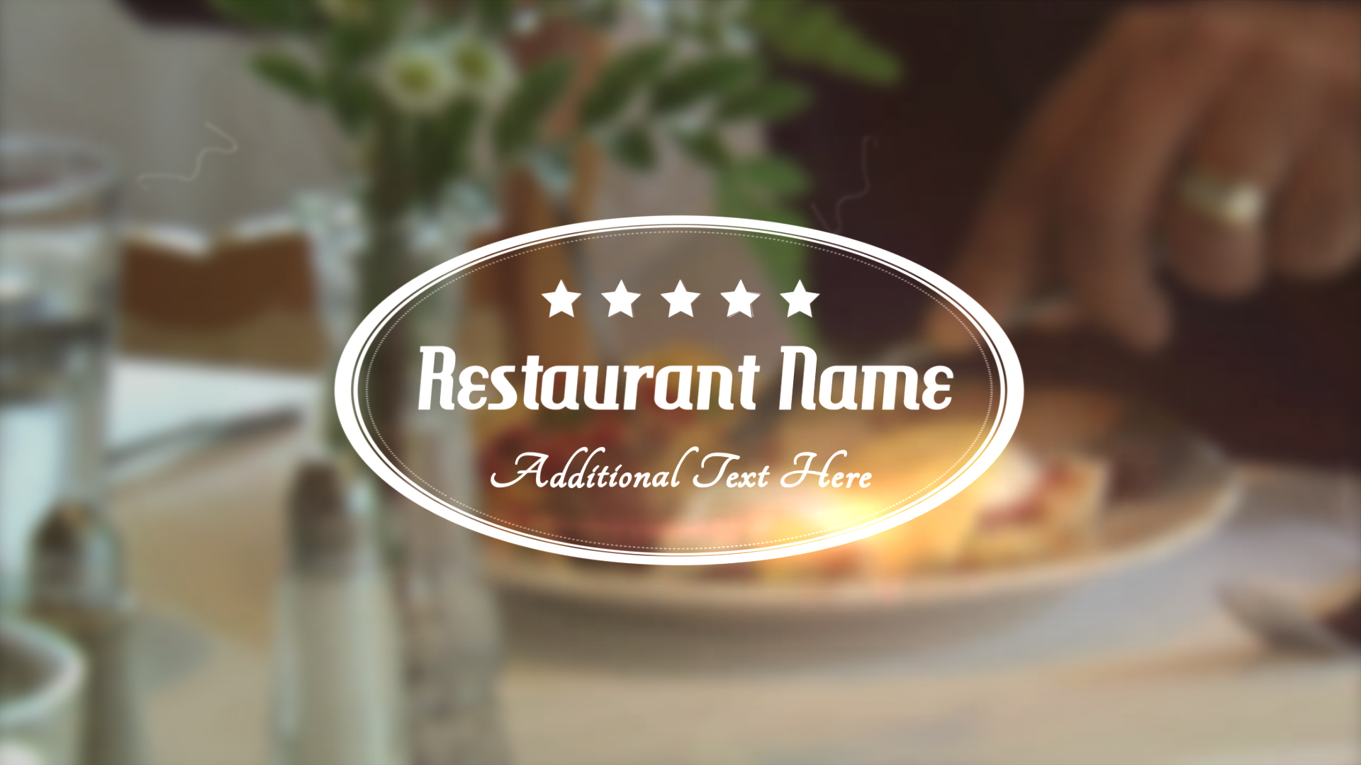 Restaurant Title Apple Motion 5 Template
